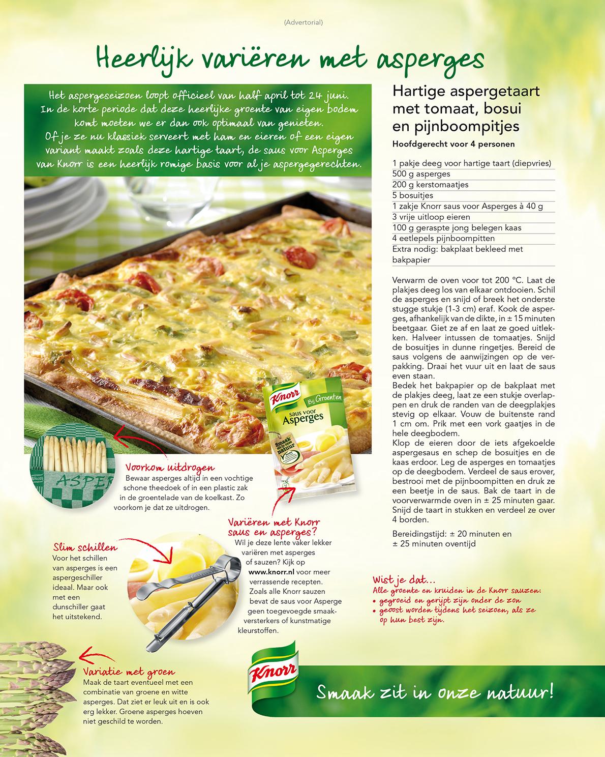 Knorr advertorials sauzen