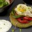 kikkererwtenburger met ei en paprika