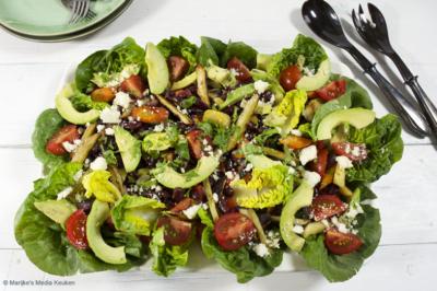 Salade met een Mexicaans smaakje