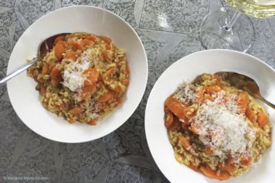 Risotto met wortel en saffraan