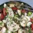salade met scamorza en kikkererwten