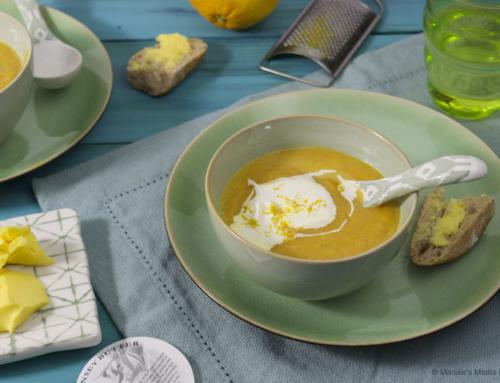 Wortelsoep met gember en sinaasappel