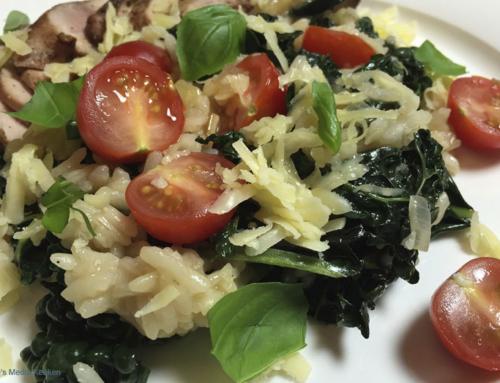 Risotto met palmkool en tomaat