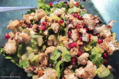 Geroosterde bloemkool met granaatppelpitten