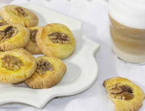 Zandkoekjes met walnoot maken