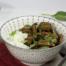 Auberginecurry met gehaktballetjes en champignons