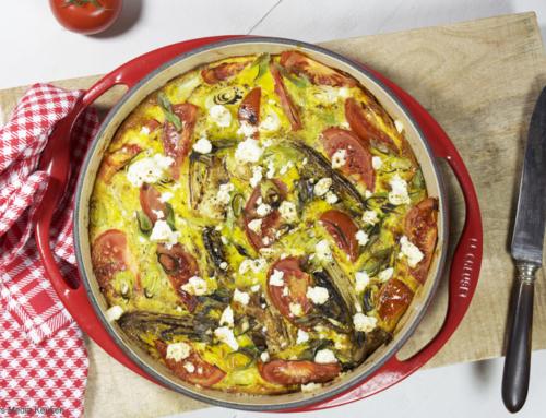 Tortilla met witlof en tomaat