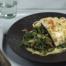 Gebakken spinazie met rode peper, gember en room