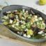 Geroosterde witlof met courgette, rode ui en feta