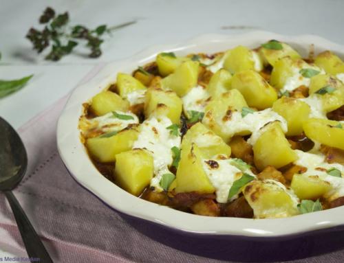 Knolselderijschotel met tomaat en aardappel