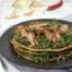Boekweitpannenkoeken met roergebakken spinazie en spek