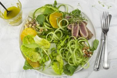 Groene salade met tonijn