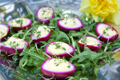 gevulde roze eitjes