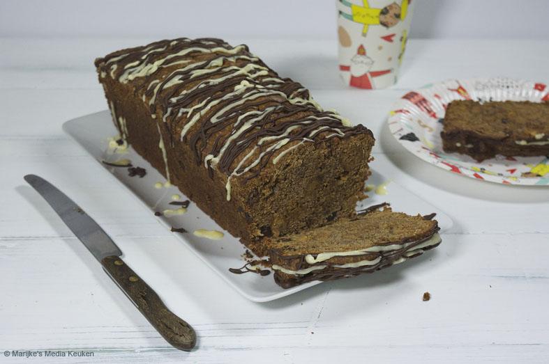 Kruidkoek met pepernoten en chocolade