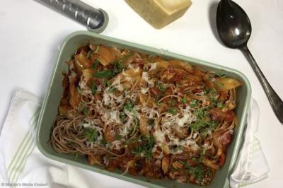 Spaghetti met kip, venkel en ui