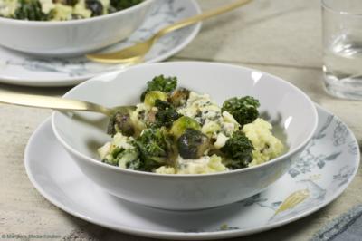 Risotto met spruiten en gorgonzola
