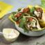 Pitabroodjes met paprika, kikkererwten en groene asperges