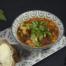 Groentesoep met veel groenten en pittige paprikaworst