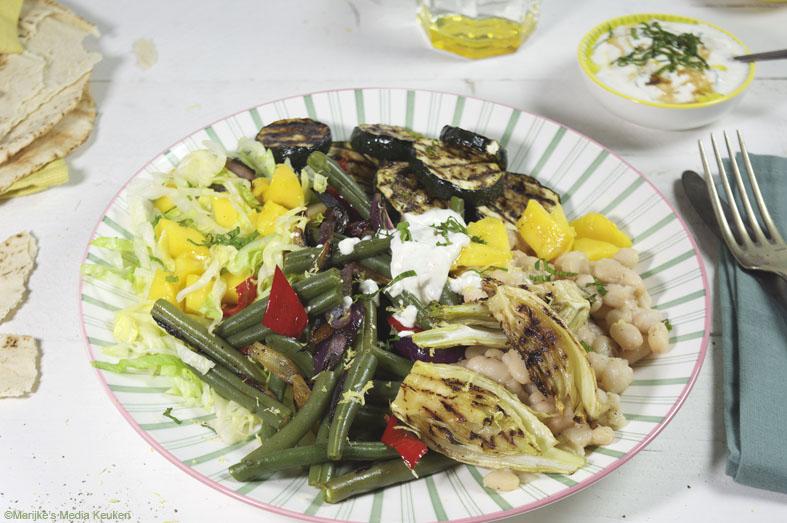 Groentesalade met lekker veel groenten