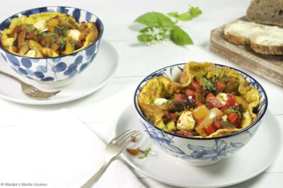 Omelet met Italiaanse groenten