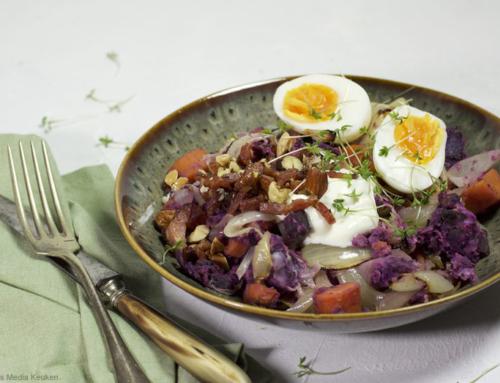 Geroosterde hutspot met zoete aardappel