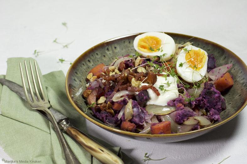 Geroosterde hutspot met zoete aardappel maken