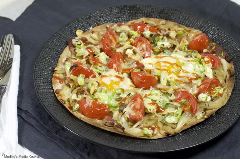 Tortilla met ei en kaas maken