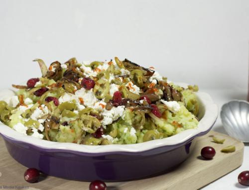 Komkommerstamppot met cranberries en feta