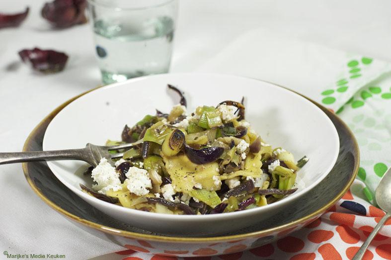 Ravioli met prei en ricotta maken