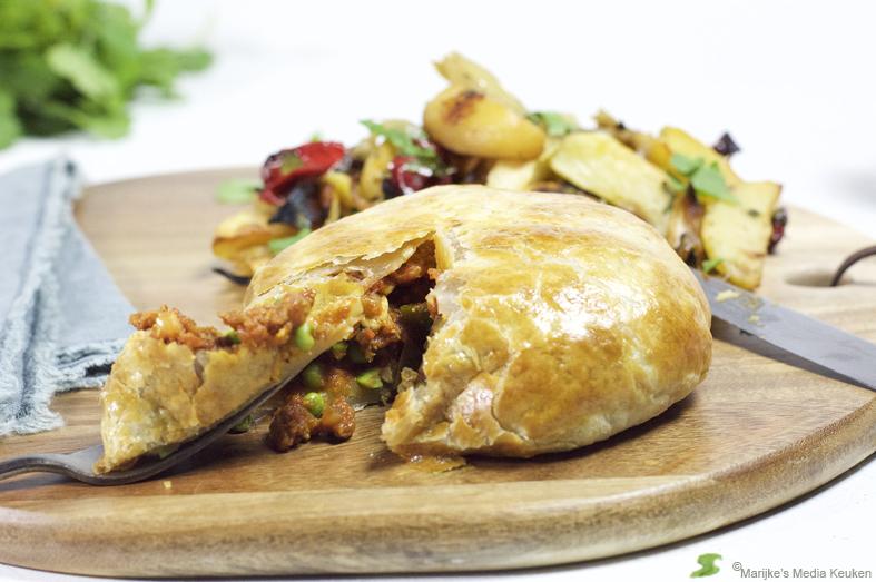 Pasteitje met vegetarisch gehakt maken