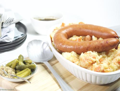 Hutspot met bruine boterjus