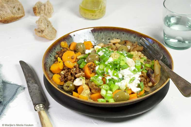 Linzen met cannelini bonen en hüttenkäse maken